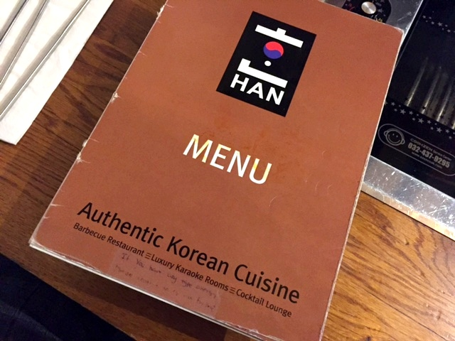 Korean BBQ at Han in New Malden