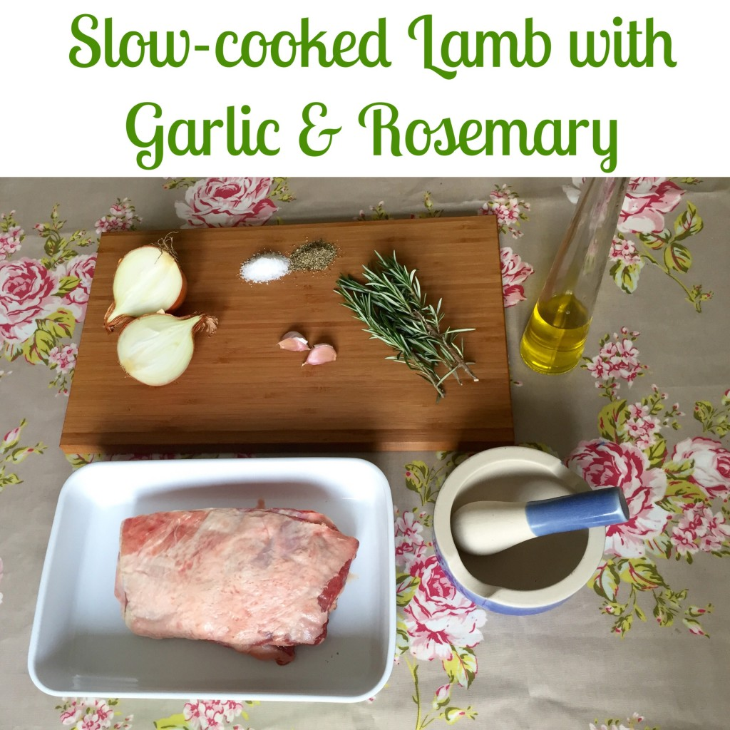 Slow-cooked Lamb with Garlic & Rosemary