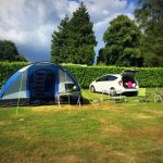 Camping at South Lytchett Manor, Dorset