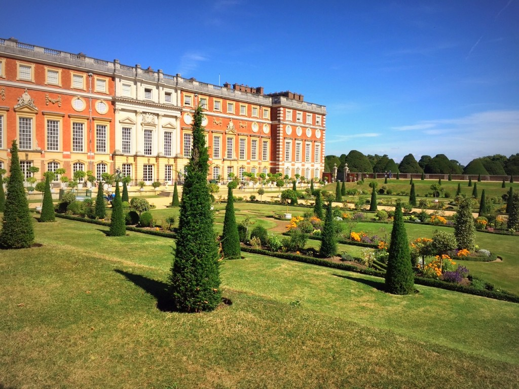 Our Family Photo at Hampton Court Palace