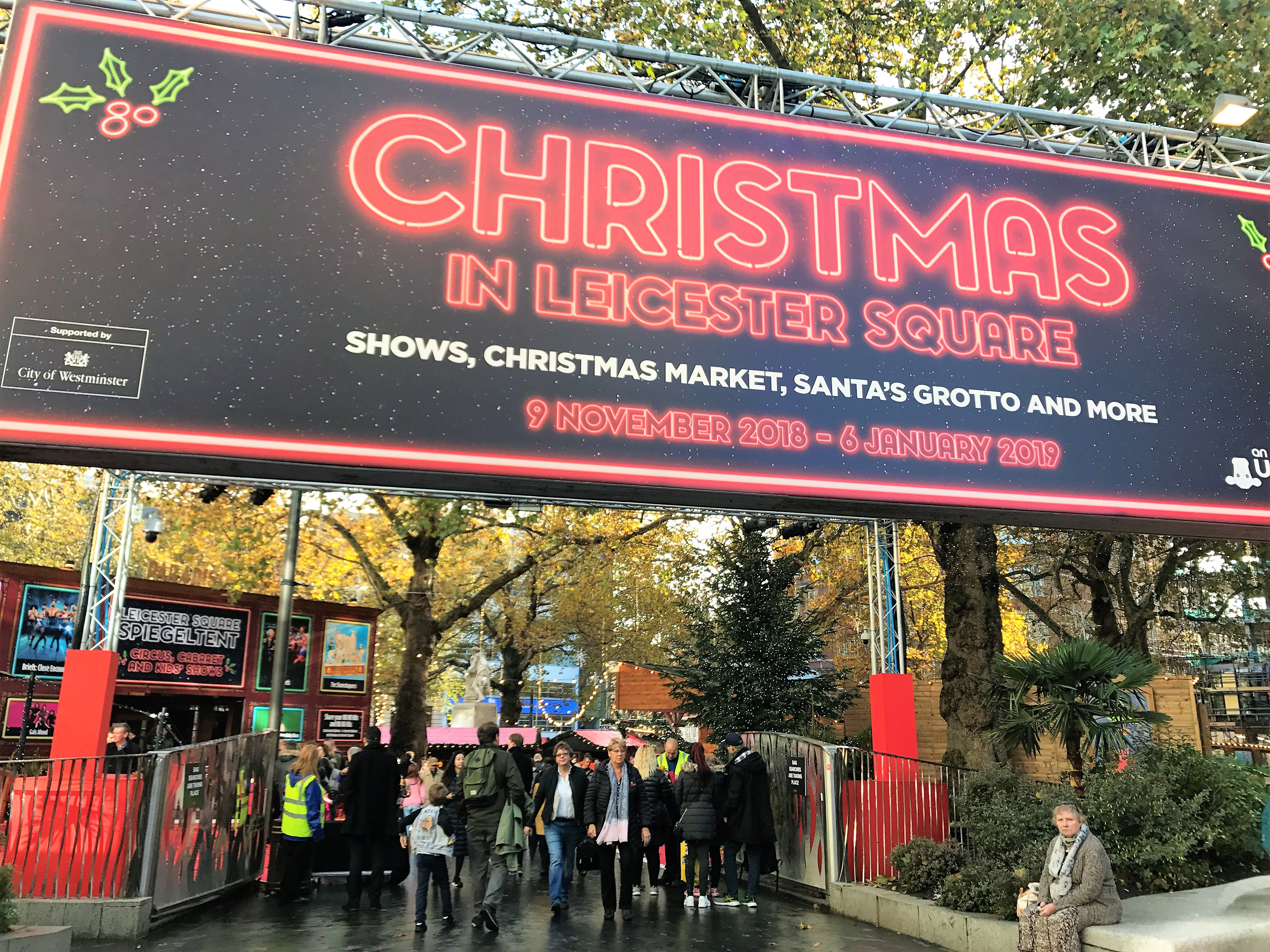 A Christmas Day Out In Leicester Square Elfa In London